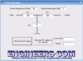 Impedance matching calculator