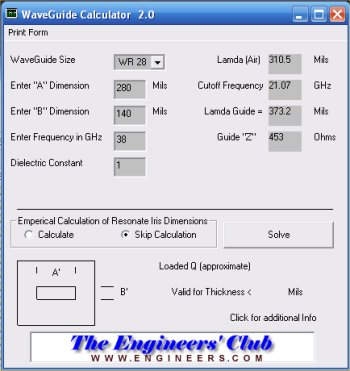 Waveguide Filter Design Software